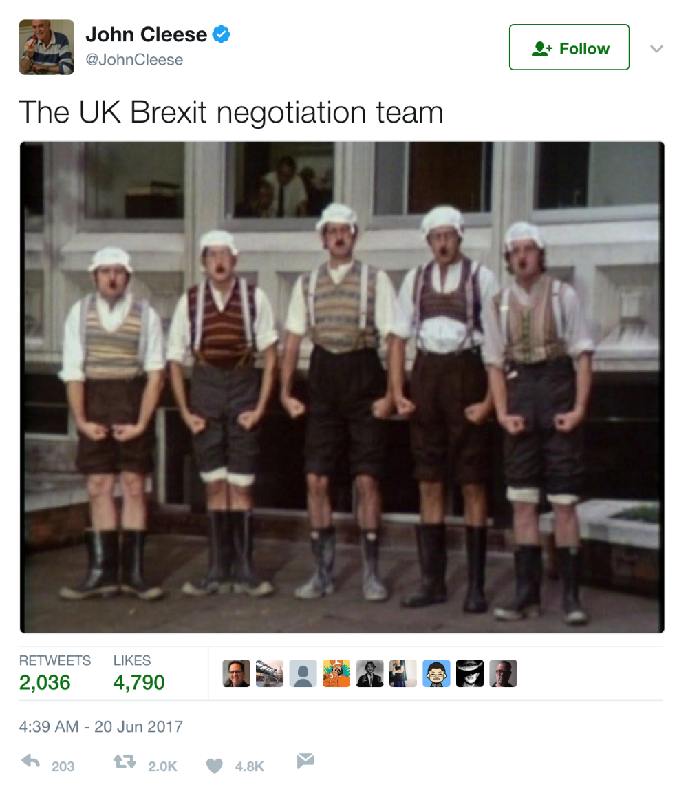 John Cleese On The Uk Brexit Negotiation Donncha